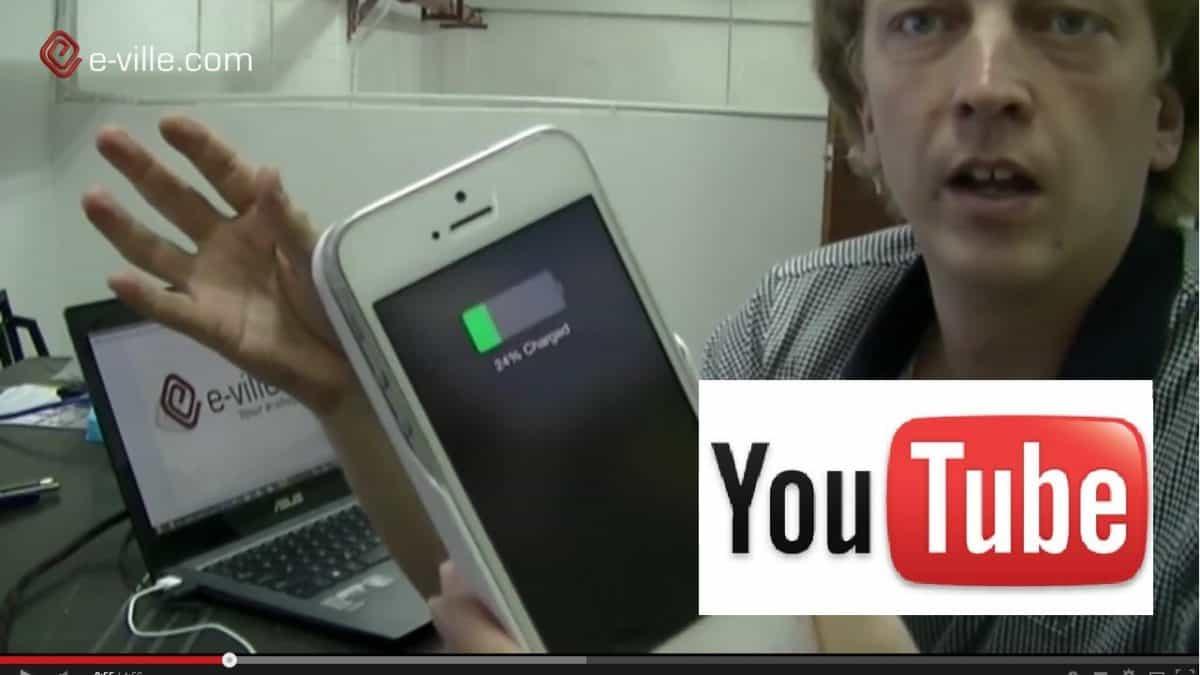 iPhone -varavirtalähde / -suojakotelo videoblogissa