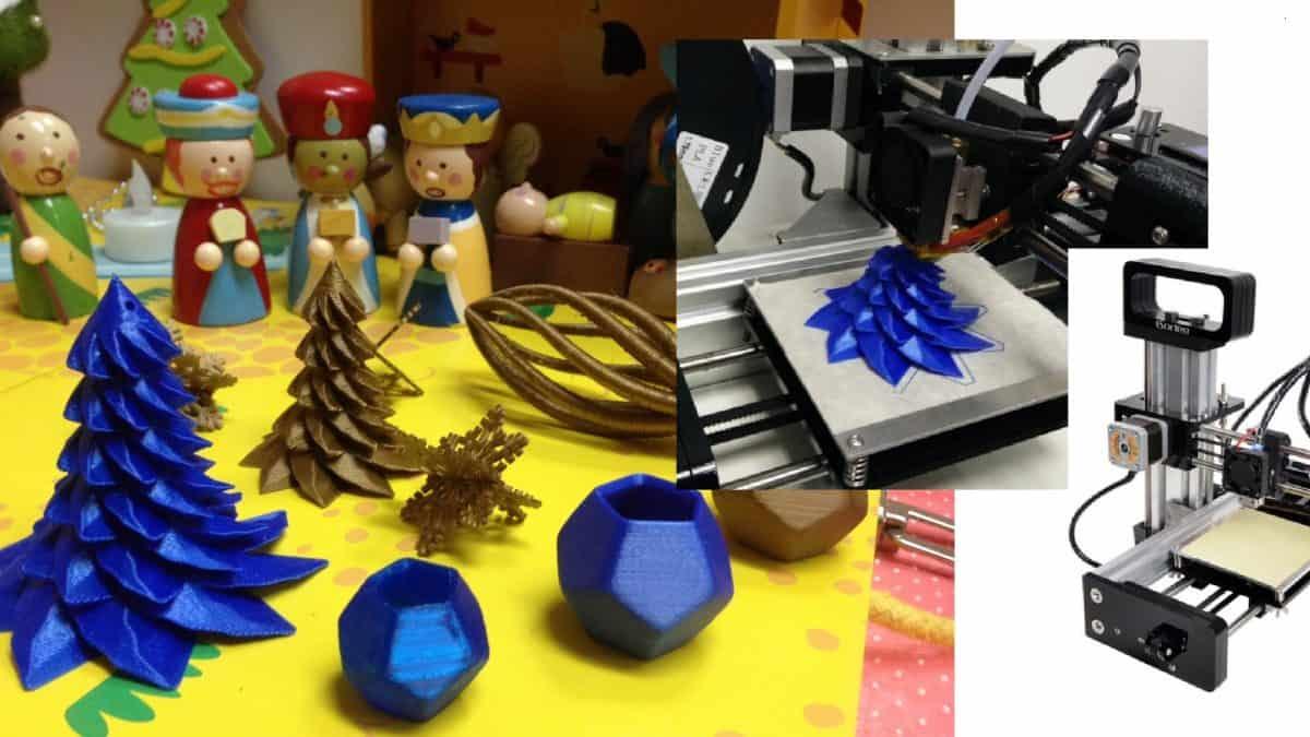3D-printatut jouluterveiset e-villen tiimiltä!