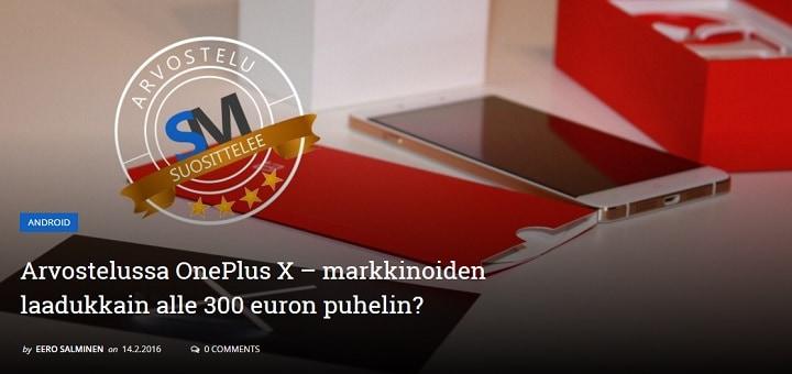 OnePlus X arvostelu – Markkinoiden paras 300€ puhelin?