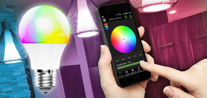 Kännykkäohjattava LED-valaistus koko taloon alle 100€