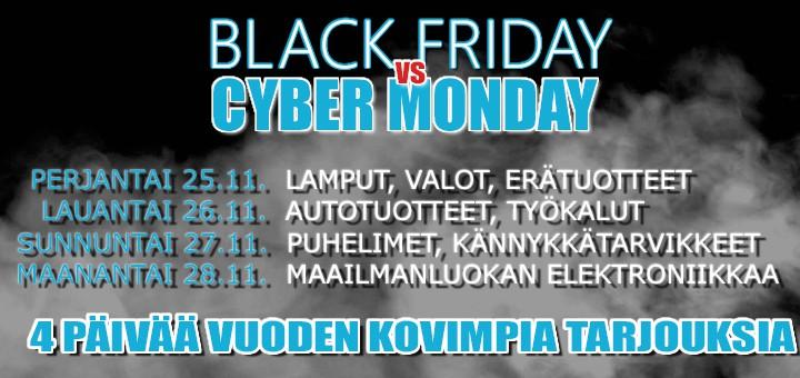 Black Friday tulee – Katso parhaat tarjoukset