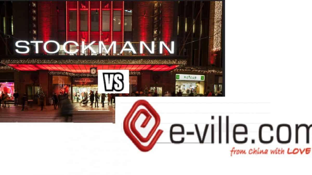 e-ville.com on suositumpi kuin Stockmannin verkkokauppa