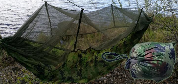 Riippumatto hyttysverkolla Eräsmiehen testissä