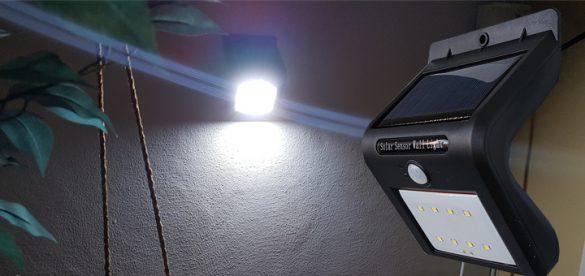LED-ulkovalo aurinkopaneelilla