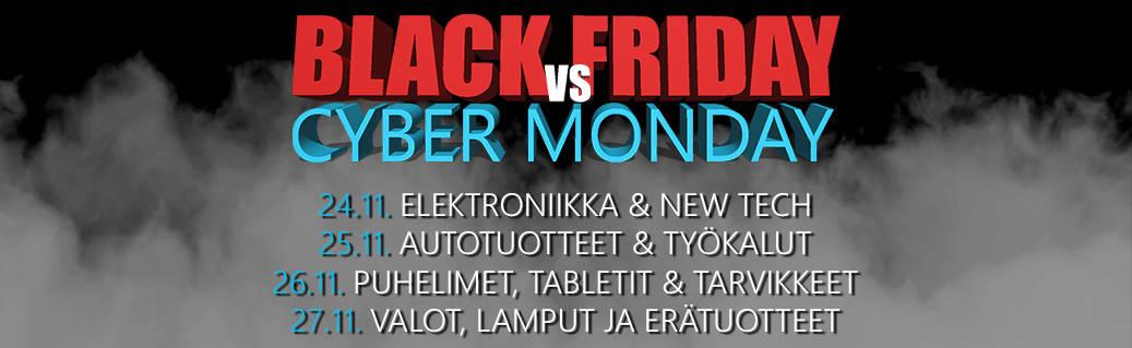 Black Friday VS Cyber Monday – Katso vuoden kovimmat tarjoukset!