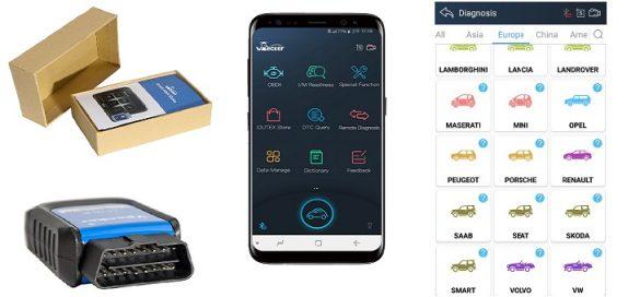 Vpecker E4 -järjestelmätesterin tuetut automerkit ja -mallit sekä erikoistoiminnot