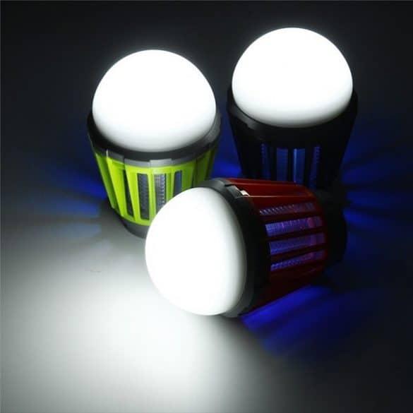 LED-lamppu hyttysansa toimii hyttystorjunnan lisäksi erinomaisesti mm. leirilamppuna
