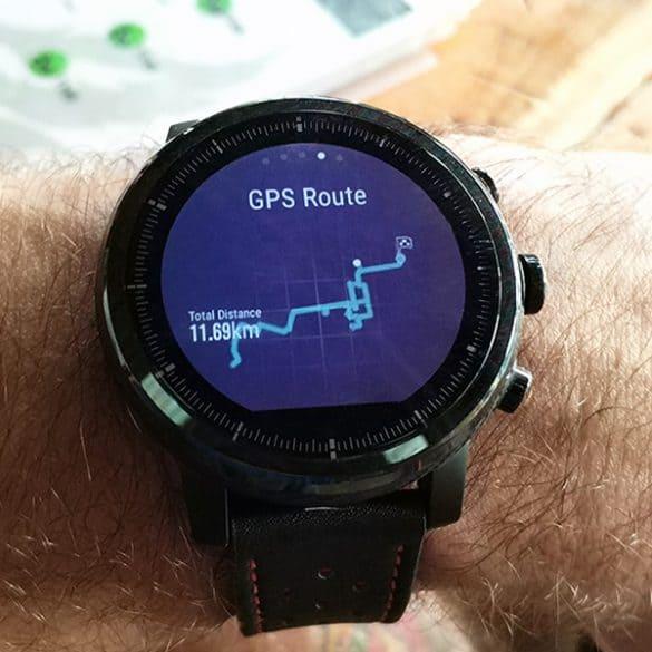 GPS piirtää kellon näytölle kuljetun matkan