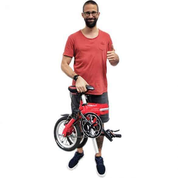 9kg painava pyörä ei tunnu missään.