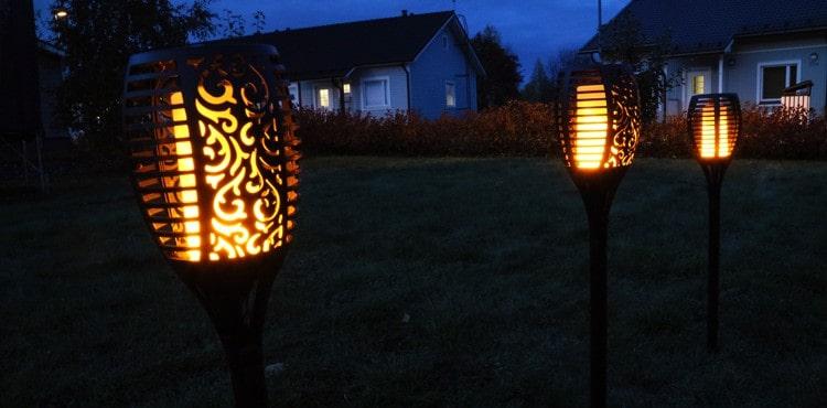 LED-liekki pihavalo tuomaan tunnelmaa pihalle