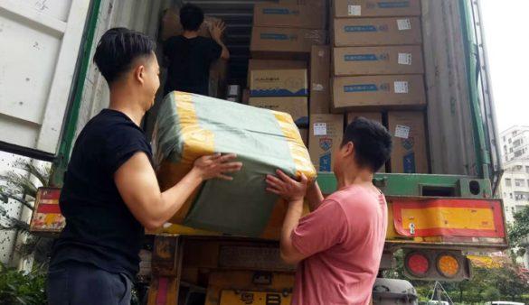Kontti täytetään Shenzhenin päässä