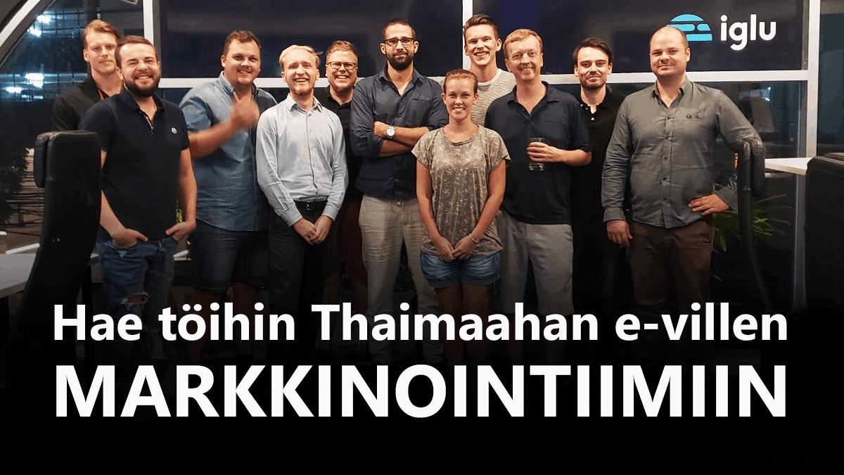 Thaimaa työpaikat – Hae töihin e-villen markkinointitiimiin