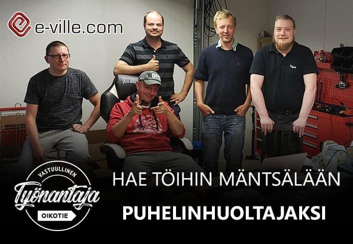 2 avointa työpaikkaa Mäntsälässä – Puhelinhuoltajaksi tai tiiminvetäjäksi e-villen huoltopisteelle?